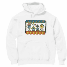 Country Decorative Bird birdhouses pullover hoodie hooded sweatshirt
