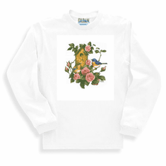 Country Decorative Bird birds birdhouse roses long sleeve tshirt sweatshirt