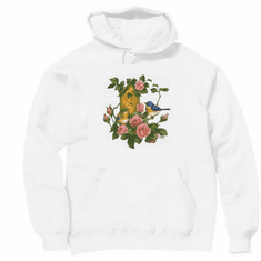 Country Decorative Bird birds birdhouse roses pullover hoodie hooded sweatshirt