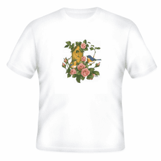 Country Decorative Bird birds birdhouse roses tshirt shirt