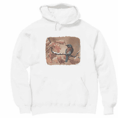 Country Decorative Bird bluebird on a limb pullover hoodie hooded sweatshirt
