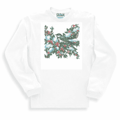 Country Decorative Bird on a cherry tree long sleeve tshirt sweatshirt