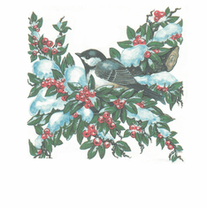 Country Decorative Bird on a cherry tree tshirt shirt