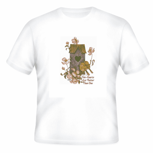 Country Decorative Bird two hearts are better than one birdhouse twin birds tshirt shirt