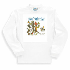 Country Decorative Bird watcher cheerful dedicated nature lover long sleeve tshirt sweatshirt