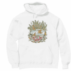 Country Decorative Birds in bird bath pullover hoodie hooded sweatshirt