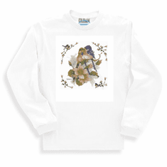 Country Decorative Birds on a tree long sleeve tshirt sweatshirt