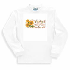 Country Decorative Blessings come in many ways the nicest come as friends sunflowers bees long sleeve tshirt sweatshirt