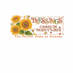 Country Decorative Blessings come in many ways the nicest come as friends sunflowers bees tshirt shirt