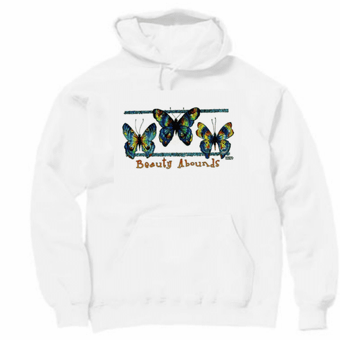 Country Decorative butterflies Beauty abounds pullover hoodie hooded sweatshirt