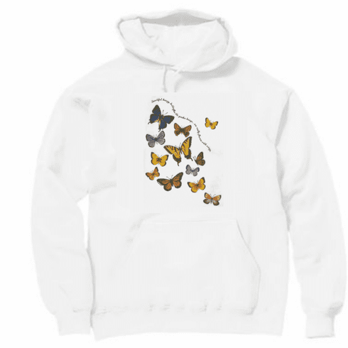 Country Decorative Butterflies Butterfly Beautiful Breezy butterflies the garden brings are really flowers with wings pullover hoodie hooded sweatshirt