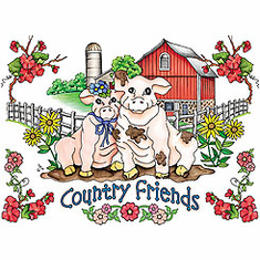 Country Decorative country friends pig pigs tshirt shirt