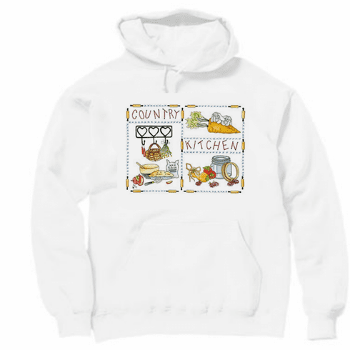 Country Decorative Country kitchen pullover hoodie hooded sweatshirt