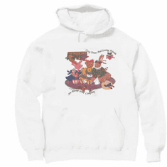 Country Decorative cozy times and loving friends bunny rabbit teddy bear pig pullover hoodie hooded sweatshirt