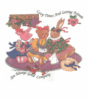 Country Decorative cozy times and loving friends bunny rabbit teddy bear pig tshirt shirt