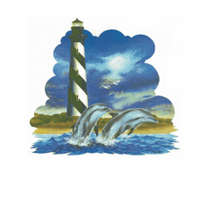 Country Decorative dolphins light house tshirt shirt