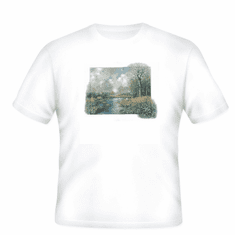 Country Decorative fall creek scenery tshirt shirt