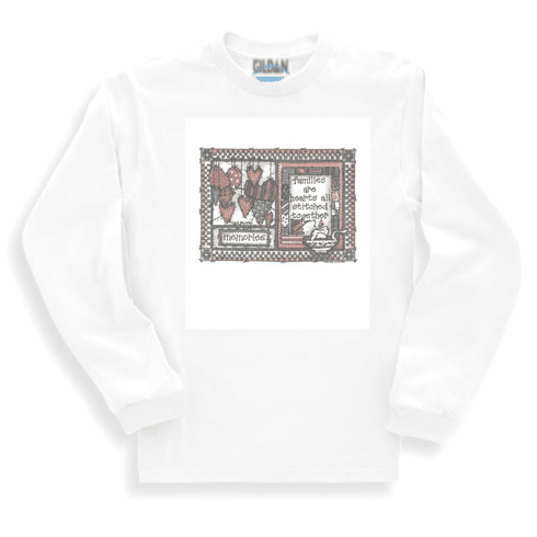 Country Decorative Families are hearts all stitched together Memories long sleeve tshirt sweatshirt