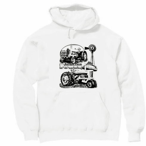 Country Decorative farming Antique farm power tractor pullover hoodie hooded sweatshirt
