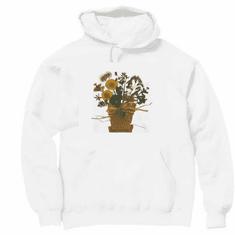 Country Decorative flower pot pullover hoodie hooded sweatshirt