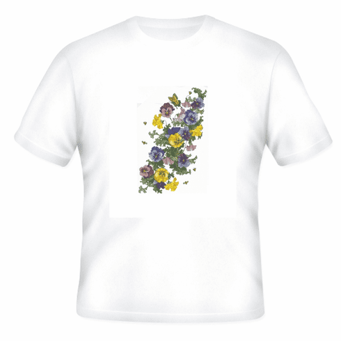 Country Decorative flowers bees butterflies tshirt shirt
