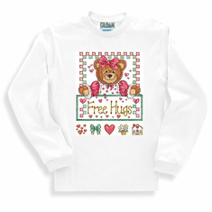 Country Decorative Free Hugs teddy bear long sleeve tshirt sweatshirt