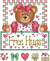 Country Decorative Free Hugs teddy bear tshirt shirt