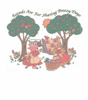 Country Decorative friends are for sharing breezy days pig bunny tshirt shirt