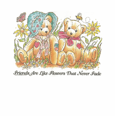 Country Decorative friends are like flowers that never fade teddy bear tshirt shirt