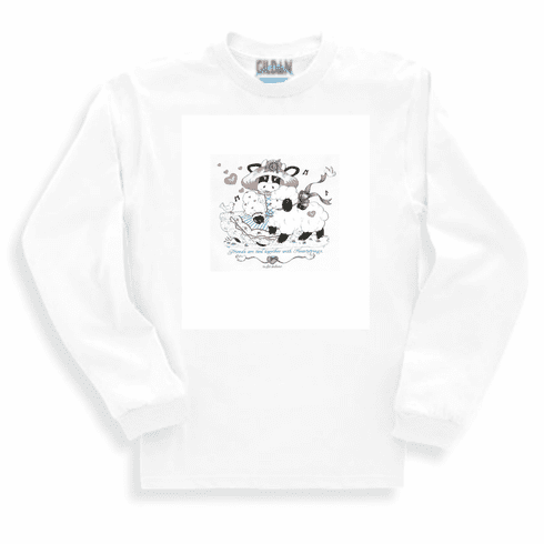 Country Decorative friends are tied together with heartstrings cow sheep long sleeve tshirt sweatshirt