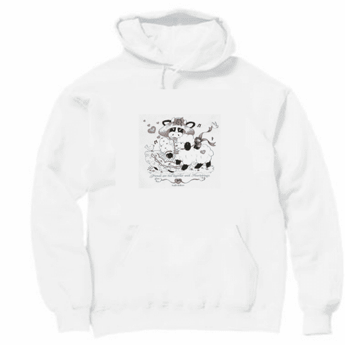 Country Decorative friends are tied together with heartstrings cow sheep pullover hoodie hooded sweatshirt