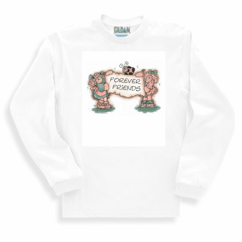 Country Decorative friends forever country dolls long sleeve tshirt sweatshirt