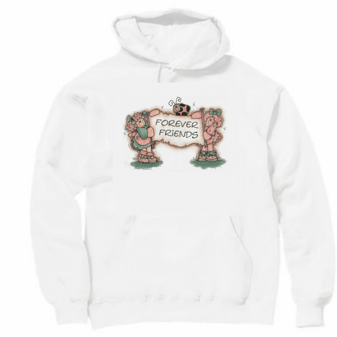 Country Decorative friends forever country dolls pullover hoodie hooded sweatshirt