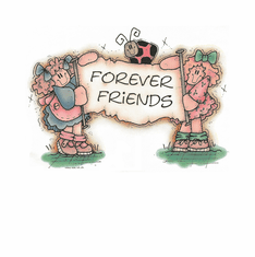 Country Decorative friends forever country dolls tshirt shirt