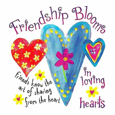Country Decorative Friendships bloom in loving hearts Friends know the art of sharing from the heart tshirt shirt