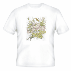 Country Decorative frogs on lily pad tshirt shirt