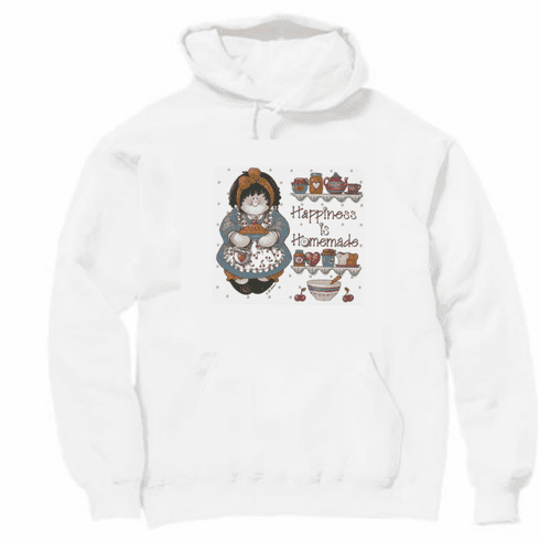 Country Decorative happiness is homemade country doll pullover hoodie hooded sweatshirt