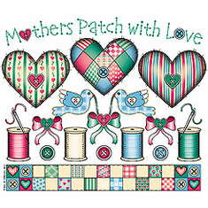 Country Decorative hearts Mothers patch with love tshirt shirt