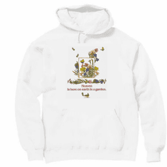 Country Decorative Heaven is here on earth in a garden bird butterfly pullover hoodie hooded sweatshirt