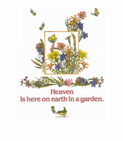 Country Decorative Heaven is here on earth in a garden bird butterfly tshirt shirt