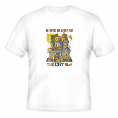 Country Decorative Home is where the cat is tshirt shirt