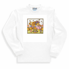 Country Decorative honey bee bears long sleeve tshirt sweatshirt