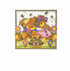 Country Decorative honey bee bears tshirt shirt