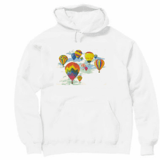 Country Decorative hot air balloons pullover hoodie hooded sweatshirt