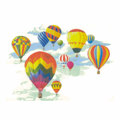 Country Decorative hot air balloons tshirt shirt