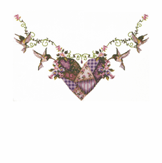 Country Decorative hummingbird heart necklace tshirt shirt