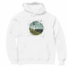 Country Decorative Lighthouse learn by going where you have never gone pullover hoodie hooded sweatshirt