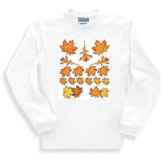 country decorative long sleeve t-shirt or sweatshirt fall autumn leaves leaf