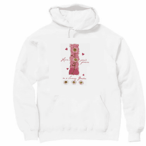 Country Decorative Love grows forever in a sunny garden flower pullover hoodie hooded sweatshirt