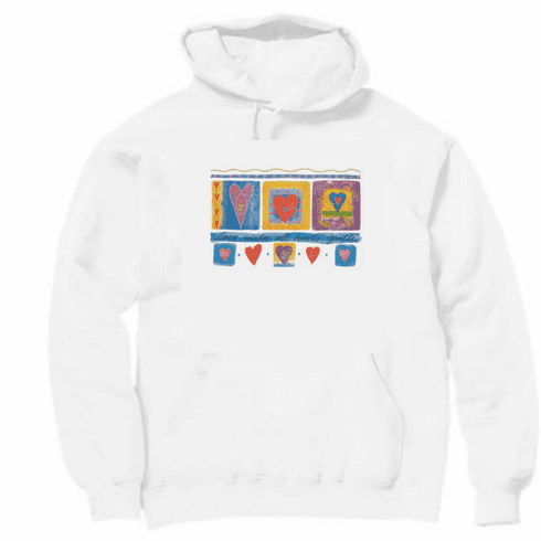 Country Decorative love makes all hearts gentle pullover hoodie hooded sweatshirt